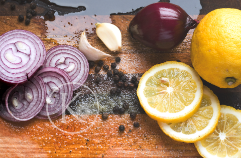 Lemon and red onion 3