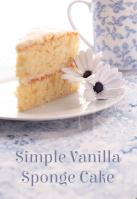 simple vanilla sponge cake