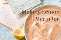 making lemon meringue
