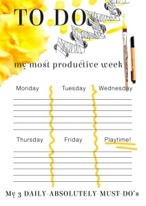 FREE: Weekly Planner: To do List